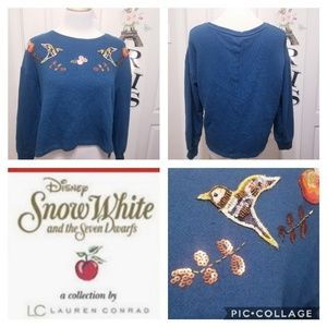 Lauren Conrad Snow White Embellished  Sweatshirt